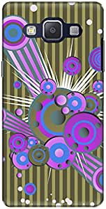 The Racoon Grip printed designer hard back mobile phone case cover for Samsung Galaxy A5. (Neon Sound)