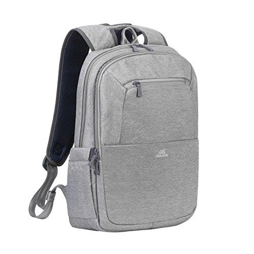 Rivacase Versteckte Reißverschluss-Außentasche an der Rückseite für Pass und Geldbörse