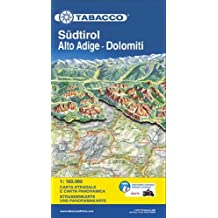 Tabacco Straßenkarte Südtirol / Alto Adige / Dolomiti 1 : 160 000: Panoramakarte und Straßenkarte
