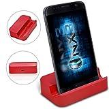 (Red) Samsung Galaxy J3 (2016) Base USB de support de bureau Data Sync Dock Station de recharge ONX3