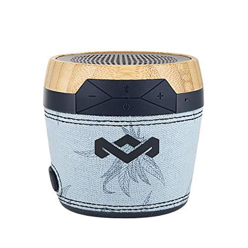House of Marley Chant Mini - tragbare Bluetooth Lautsprecherbox, spritzwassergeschützt, 6 Std. Akku, integriertes Mikrofon, Karabinerhaken, kabellos verbinden mit iPhone, Samsung etc - Blue Hemp