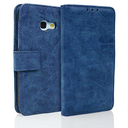 Para Samsung Galaxy A5 2017/A520 Funda, Ecoway(Azul) Cuero de la PU Leather...