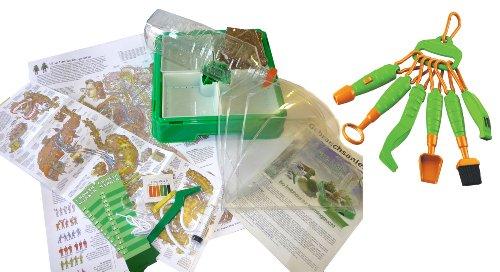 EDU Toys Set Zimmergewächshaus Hydro Lab und Werkzeug zur Naturforschung für Kinder