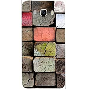 Casotec Wood Lumber Paint Design Hard Back Case cover for Samsung Galaxy J5 (2016)