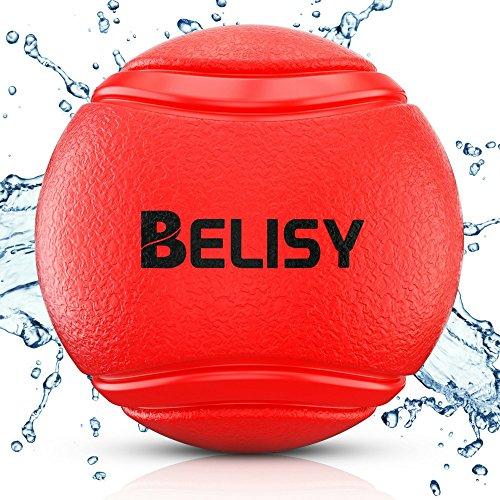 BELISY Pelota Perro - Juegos Para Perros - Adecuado Para Perros Grandes y Pequeños - Pelota Hinchable Perro - Hecho de Caucho Natural y Ecológico - Rojo