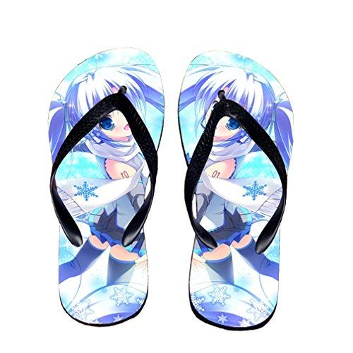 Bromeo Hatsune Miku Anime Unisex Flip Flops Zehentrenner Flip Pantoffeln 160