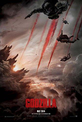 Godzilla (2014) Beidseitige Filmplakat - Advance Style Original-Kinoplakat Poster (69cm x 102cm) (Godzilla Filme Original)