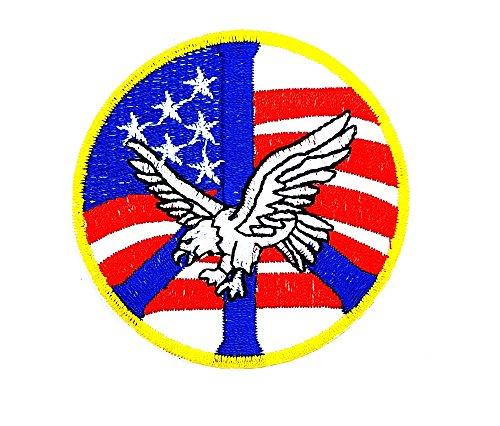rabana Eagle Hawk Falcon Bird USA Rider Biker Motorrad Patch Kinder Cute Animal Patch für Heimwerker-Applikation Eisen auf Patch T Shirt Patch Sew Iron on gesticktes Badge Schild (Big Bird Kostüm Kinder)