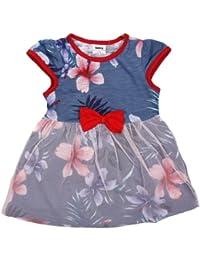 Tante tina jolis-robe d'été pour fille avec fleur et tulle façon tutu-superposition-manches courtes en jersey