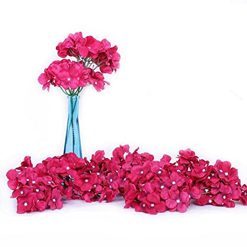 Künstliche Blumen von Li Hua Cat, künstliche Hortensien, Seidenmittelstücke und Blumenarrangement, sich echt anfühlende Blumen für Wohnungsdekor oder Hochzeitsfeiern, 10