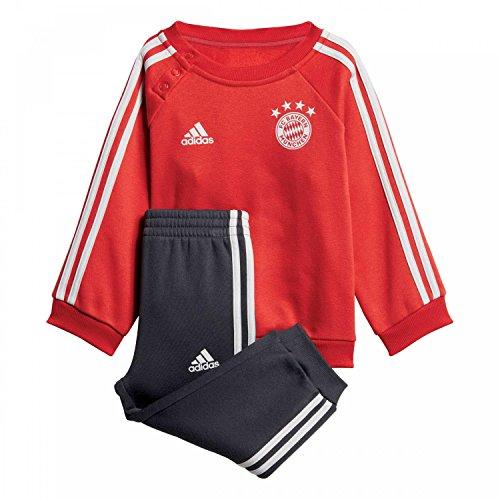 adidas Baby FC Bayern 3S Jogginganzug, FCB True red/Carbon/Grey one, 80