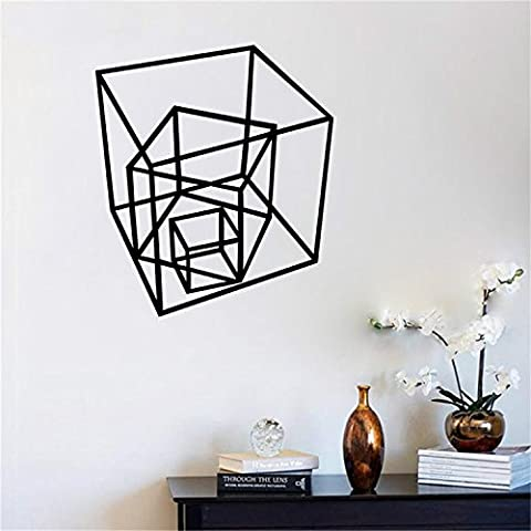 Yanqiao Geometrisch Linie Würfe Wandaufkleber Entfernend Wandtattoo Wandaufkleber 3D Vinyl Abziehbild Zuhause Dekor
