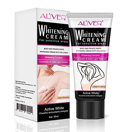 Whitening Cream,Whitening Creme Befreien für Dunklen Achselhöhle/Inner Oberschenkel/Ellenbogen/Knie schnell 60 ML