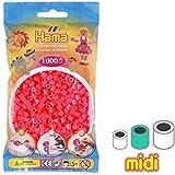 Cuentas Hama Beads MIDI 5 mm Cereza Fosforescente (n°33) x1000