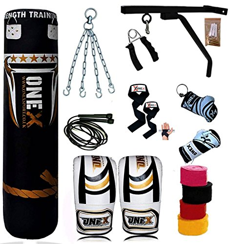 new17-piece-5ft-heavy-filled-boxing-punch-bag-setglovesbracketchains-mma-pad