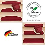 Kettelservice-Metzker® Stufenmatten Vorwerk Uni Einzeln und Sparset's Bordeaux 1 Stück Halbrund