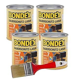 Bondex Dauerschutzlasur 3L (ebenholz) Gelartige Lösemittelhaltige Tropfgehemmte Lasur zum Hochwertigem und Dauerhaften Holzschutz außen