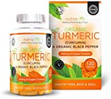Cúrcuma Orgánica 600 mg con Curcumina y Pimienta Negra Orgánica | 120 cápsulas vegetales transparentes (aptas para vegetarianos) | Con certificación de producto orgánico de SOIL ASSOCIATION y hecho en el Reino Unido