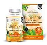 Curcuma biologique 600 mg avec Curcumine & poivre noir biologique | 120 capsules avec enveloppe végétale (convient aux végétariens) | Certifié biologique SOIL ASSOCIATION & fabriqué au Royaume-Uni