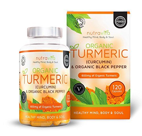 Organic Turmeric 600mg with Curcumin & Organic Black Pepper | 120 Clear Veg Capsules (Suitable For Vegetarians) | SOIL ASSOCIATION Organic Certified & Made in the UK Test