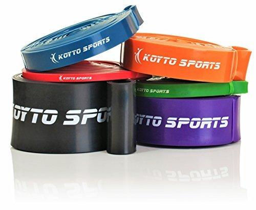 Bandas elásticas para dominadas (pull-ups) - 6 niveles, 1 - 80 kg de resistencia, 104 cm. Bandas elásticas de entrenamiento para dominadas (pull-ups), estiramientos y levantamiento de pesas