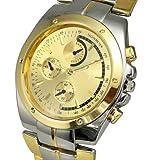 Bei wang Men's Fashion Golden Dial Wrist Watches
