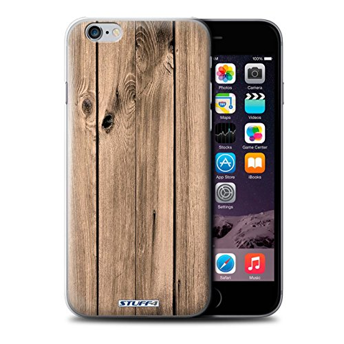 STUFF4 Phone Case / Cover for Apple iPhone 6S / Walnut Design / Wood Grain Effect/Pattern Collection Planche
