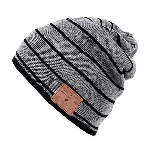 Bluetooth Cappello con Cuffie Stereo e Microfono Caldo Berretto Cappello  Maglia Musica Autunno e Inverno Bluetooth Cappello Auricolare Bluetooth  senza Fili ... ba0deba587e3