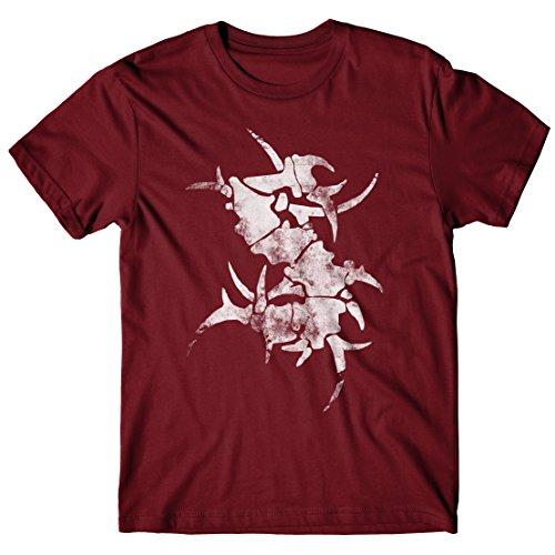T-shirt Uomo Sepultura - S Logo - Maglietta 100% cotone LaMAGLIERIA,M, Burgundy