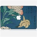 Sticker MacBook 12 de chez Skinkin - Design original : Peonies and Canary par Katsushika Hokusai