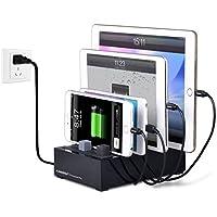 Avantree 4Puerto universal multi USB estación de carga para varios dispositivos, Tablet Teléfono Cargador estación múltiple para Samsung, Apple iPhone, iPad, Smartphone [Upgraded]