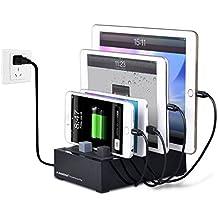 Avantree Stazione di Ricarica USB Multipla Multiposizione, Multi Charger Charging