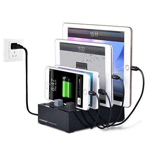 Avantree [Upgraded] 4 Port Universal Multi USB Ladestation für Mehrere Geräte, Tablet Handy Mehrfach Dockingstation Ladegerät für Samsung, Apple iPhone, iPad, Smartphone [2 Jahre Garantie]
