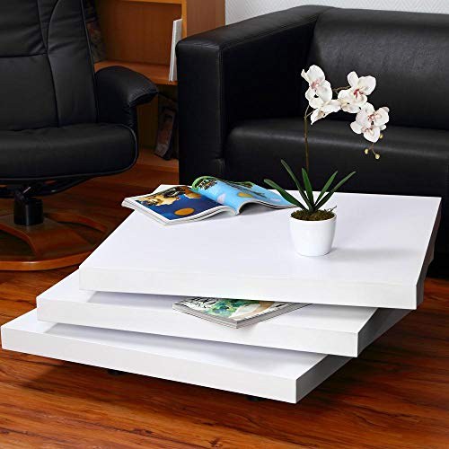 Directachat56 Table Basse pivotante carrée, modèle Fusion