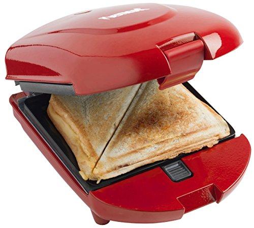 Bestron adm2003r - griglia multi-uso compatta 3 in 1, tostiera/cialdiera / griglia, 520 w, colore: rosso