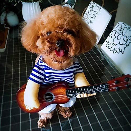 Süß Haustiere Halloween Kostüm Festival Fancy Dress Up Shirt Gitarre Sailor Lustige Cosplay Kleidung, L: 31? 38cm (Farbe : ()