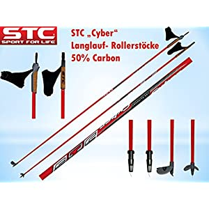 STC Cyber 60% Carbon Langlaufstock Skating Stöcke Roller Rollski Stöcke Skike