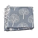 Souarts Dark Grey Tree Fabric Bundles Quilting Sewing Patchwork Clothes DIY Craft 1 Sheet