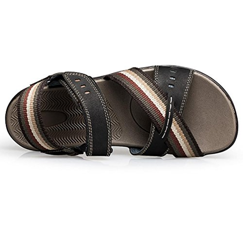 SHANGXIAN In pelle cinturino Sandals(two kinds of tees) uomo Black