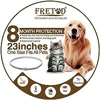 FRETOD Collare Antipulci per Cani e Gatti – 65cm Ajustable Collare Antiparassitario Antizecche para Cane Taglia Media Grande
