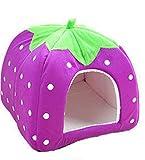 Lovely strawberry Typ Soft Samt Warm Hund Katze Kleine und mittelgroße faltbar leicht zu reinigen Pet Nest 1