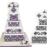 HULISEN 7 Kuchen Dekorieren Schablone Form Hochzeit Kuchen, Schablone