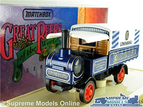 ygb12-yorkshire-steam-wagon-lowenbrau-model-truck-matchbox-great-beers-yest-k8
