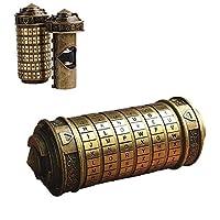 Angelo Morris Da Vinci Code Cryptex Lock Retro Secret Stash Box with Cool Rings Romantic Valentine