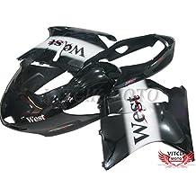 VITCIK (Kit de Carenado para Honda CBR1100XX F5 1996 - 2007 CBR1100 XX F5 96 - 07) Accesorios de repuesto para bastidor y carrocería con completo para motocicleta y moldeo por inyección en ABS(Blanco & Negro) A024