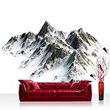 Vlies Fototapete 416x254cm PREMIUM PLUS Wand Foto Tapete Wand Bild Vliestapete - Berge Tapete Hochgebirge Gebirge Alpen Himalaya Schnee weiß - no. 3403