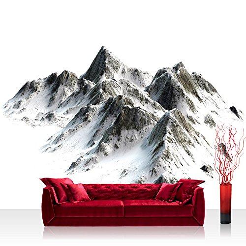 Vlies Fototapete 208x146cm PREMIUM PLUS Wand Foto Tapete Wand Bild Vliestapete - Berge Tapete Hochgebirge Gebirge Alpen Himalaya Schnee weiß - no. 3403 (Schnee Berg Bilder)