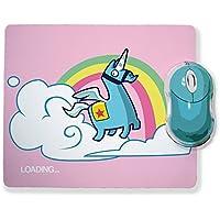 Alfombra de ratón Lama unicornio loading. Juegos de vídeo Fortnite Chibi y Kawaii – Chamalow