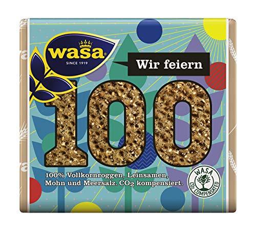 WASA Knäckebrot 100 Jahre Mohn & Leinsamen, 12er Pack (12 x 245 g)