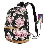 Best Las mochilas portátiles para los colegios - Mochila para Chicas, Moda Floral Colegio Bolsas Estudiante Review